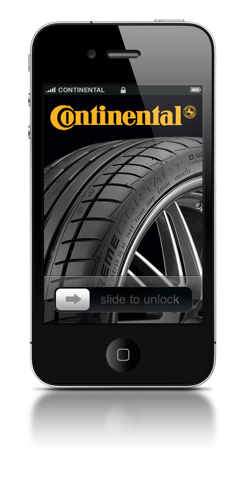 Reklama Continental w iPhone.